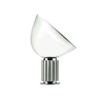 Flos - Taccia LED Tischleuchte klein - silber/eloxiert/H:48.5cm x Ø 37.3cm/2700K/1290lm/CRI 92