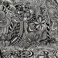 Kartell - Pop Missoni Zweisitzer - cartagena B/N/Baumwolle/Gestell transparent