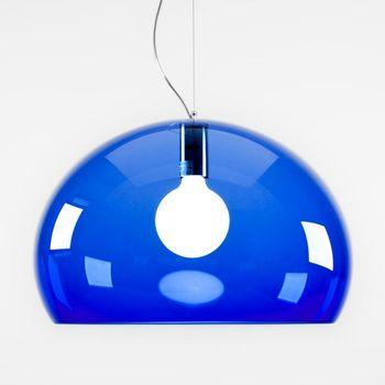 Kartell - FL/Y Icon Pendelleuchte - blau/transparent