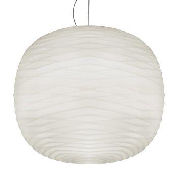 Foscarini - Gem LED Pendelleuchte 274007L-10 - weiß/mit Relief/2700K/2676lm/CRI>90/H 44cm/Ø 43cm