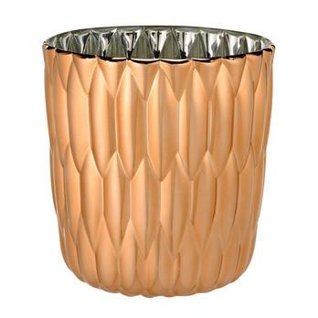 Kartell - Jelly Metallic Vase - kupfer/Ø23.5cm/H 25cm