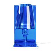 Kartell - Take Tischleuchte - blau/transparent/Schirm plissiert
