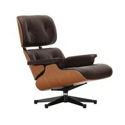 Vitra - Fauteuil pivotant Eames Lounge Chair cuir