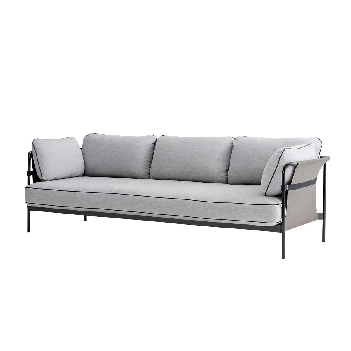 hay can 3 sitzer sofa hellgraustoff surface 120247x82x89 - Couch Grau Stoff