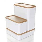 RIG-TIG - RIG-TIG Aufbewahrungsboxen Set groß - weiß/bambus/3-tlg.
