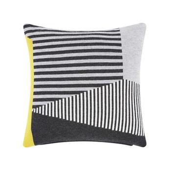 Tom Dixon - Line Kissen 45x45cm - grau/schwarz/45x45cm/Füllung: 95% Entenfedern, 5% Daunen