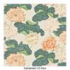 Kartell - Largo 3-Sitzer Sofa - natur/rosa/grün/Stoff Sanderson V3 Kew/Gestell Stahl schwarz lackiert/301x69x96cm/Lieferung ohne Kissen
