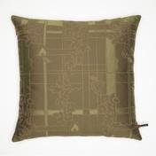 Vitra - Maharam Kissen 40x40cm - Park Woven Bamboo/Lichen/olivgrün