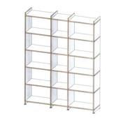 mocoba - mocoba Regal multiplex 142x188cm  - weiß/Kante multiplex/höhenverstellbarer Sockel 5cm/Abschlusssleiste oben 5cm