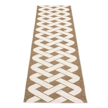 pappelina - Eira Teppich 70x350cm - nougat metallen/vanille/wendbar