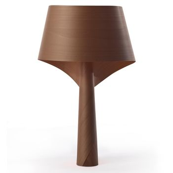 LZF Lamps - Air Tischleuchte - schokolade/matt/L27 x B28 x H49cm/ohne Leuchtmittel