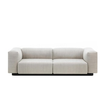 Vitra - Soft Modular 2-Sitzer Sofa - creme/stahlgrau/Stoff Maize 03/234x64.5x96.5cm