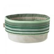 Stelton - Stelton Brottasche Streifendesign - minzgrün gestreift/beige/Baumwolle/mit eingearbeiteten Magneten zum Verschließen