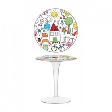 Kartell - Tip Top - Table d'appoint avec motif