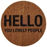 Bloomingville - Hello People Doormat Ø 70cm