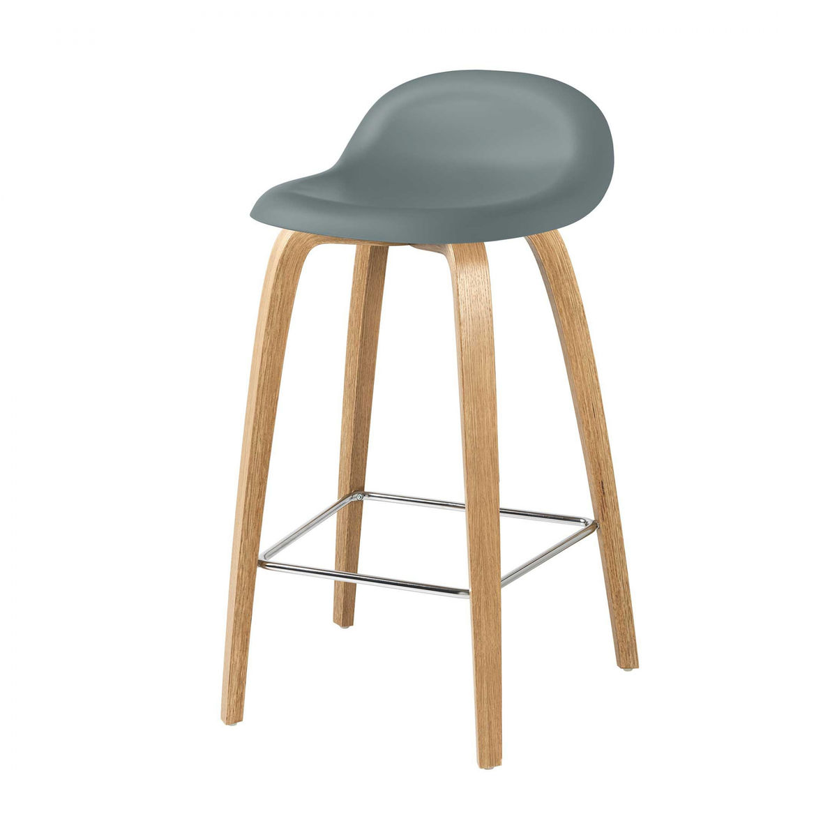 3d counter stool barhocker mit eichengestell gubi for Barhocker 3d