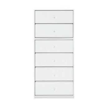 Montana - Archive Kommode 108x46,8x38cm - new white 101/lackiert/mit 6 Schubladen