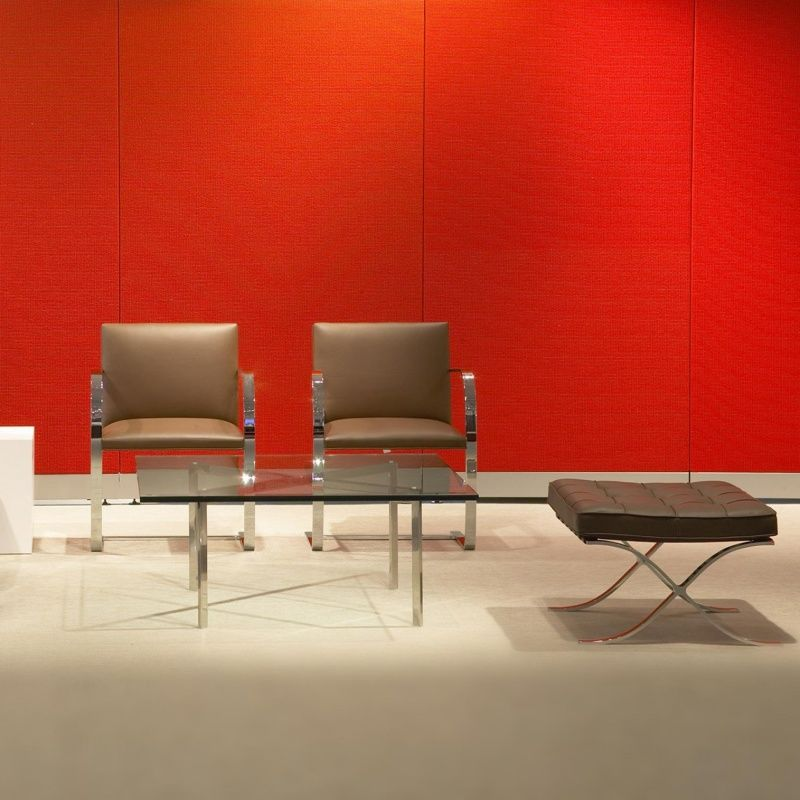 Barcelona Mies Van Der Rohe Tabouret Knoll International