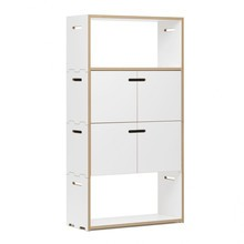 Tojo - Hochstapler Shelf with Doors H 144cm