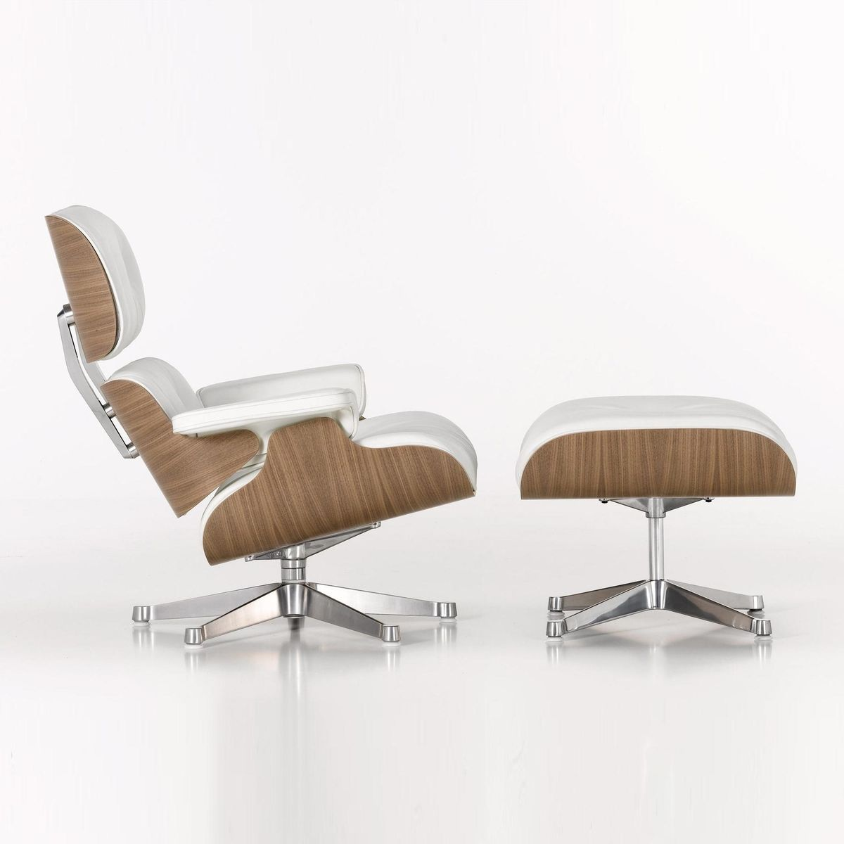 Eames lounge chair ottoman vitra for Vitra lounge chair