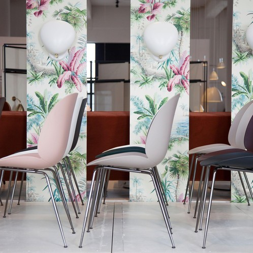 Gubi - Beetle Dining Chair Stuhl Gestell Messing
