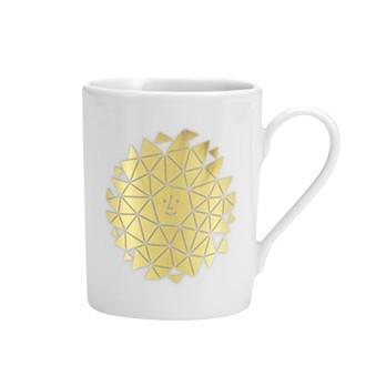 Vitra - Coffee Mug New Sun Kaffeetasse - weiß/gold/0.3l/H 9.5cm/Ø 7.5cm