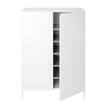 Schönbuch - Urban 1071 Kommode / Schuhschrank - schneeweiß/lackiert/2 Türen/5 Schuhböden/80x116x39.1cm