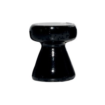 Gervasoni - InOut 44 Beistelltisch / Hocker - schwarz/glänzend/H: 46 cm