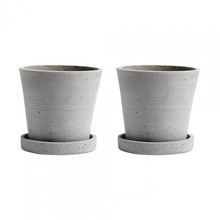 HAY - Flowerpot With Saucer Set Of 2 S