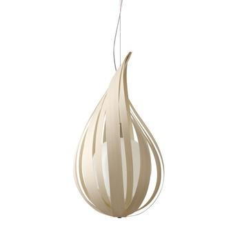 LZF Lamps - Raindrop SM Pendelleuchte - elfenbein/matt/Ø 22cm/H 36cm/ohne Dimmer