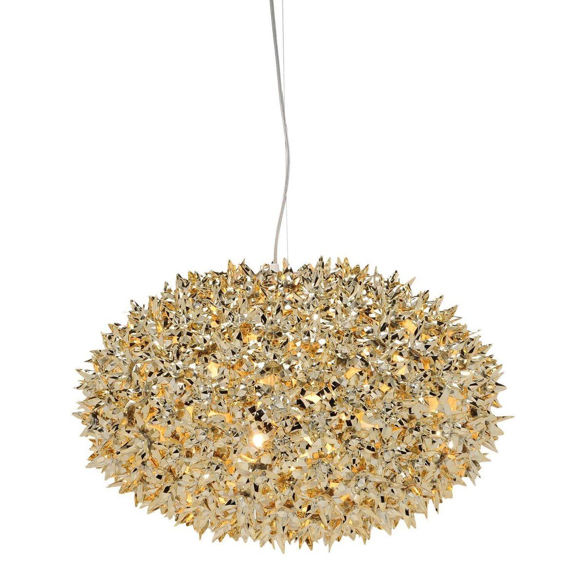 Kartell   Bloom Metallic Kugel S1 Pendelleuchte Ø53cm   Gold/glänzend