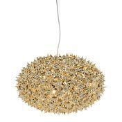 Kartell - Bloom Metallic Kugel S1 Pendelleuchte Ø53cm - gold/glänzend