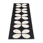 pappelina - Aki Plastic Rug 70x240 cm - black/vanilla