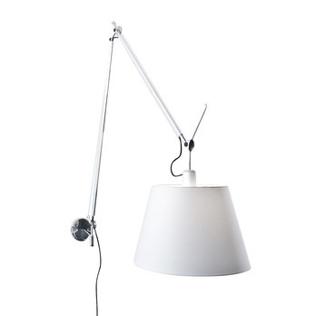 Artemide Tolomeo Mega Parete Applique Murale Satin Ambientedirect