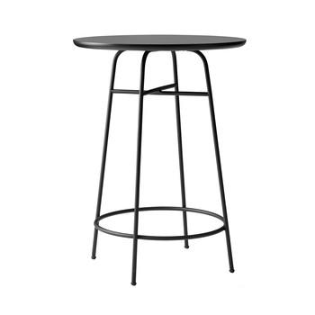 Menu - Afteroom Bar Table Bistrotisch - schwarz/schwarzes Laminat/pulverbeschichtet/H 102cm, Ø 68cm/Arpa Laminat