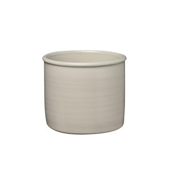 e15 - AC19 Salina Topf/Pflanzgefäß klein - sandgrau/salzglasiert/handgefertigt/H 13cm/Ø 15cm