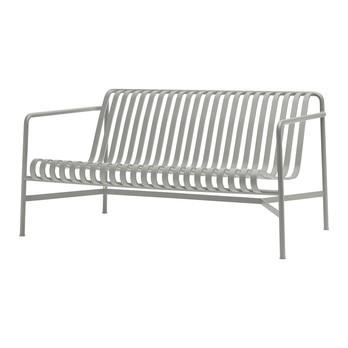 HAY - Palissade Lounge Sofa - dusty grau/pulverbeschichtet/H x B x T: 70 x 139 x 88cm