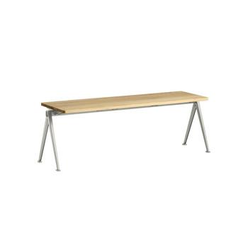 - HAY Pyramid Bench 11 Bank 140x40cm - eiche/matt lackiert/Gestell beige pulverbeschichtet/H 46cm