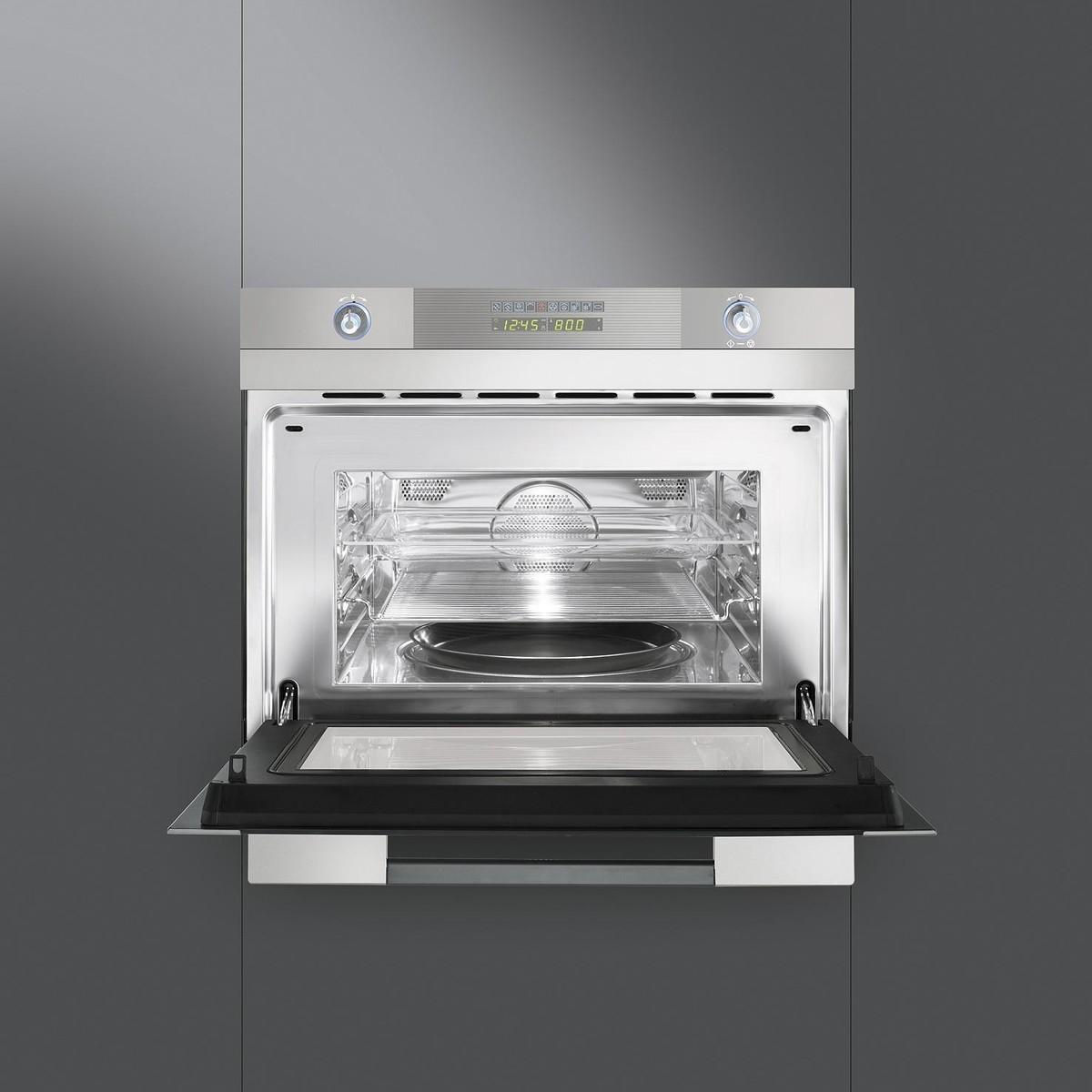 Sc45mc inset microwave oven smeg ambientedirectcom for Smeg küche