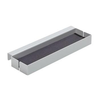 müller möbelwerkstätten - Flai Add-On-Element No. 1 Ablage für Flai Bett - weiß RAL 9016/mit Filzeinlage anthrazit/offen/LxBxH 29x8x3.5cm