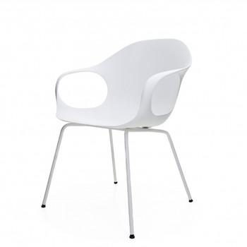 Kristalia - Elephant Armlehnstuhl - weiß/Gestell weiß