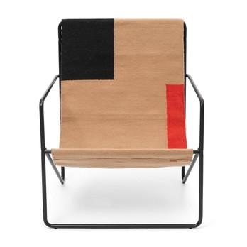 ferm LIVING - Desert Loungestuhl Gestell schwarz