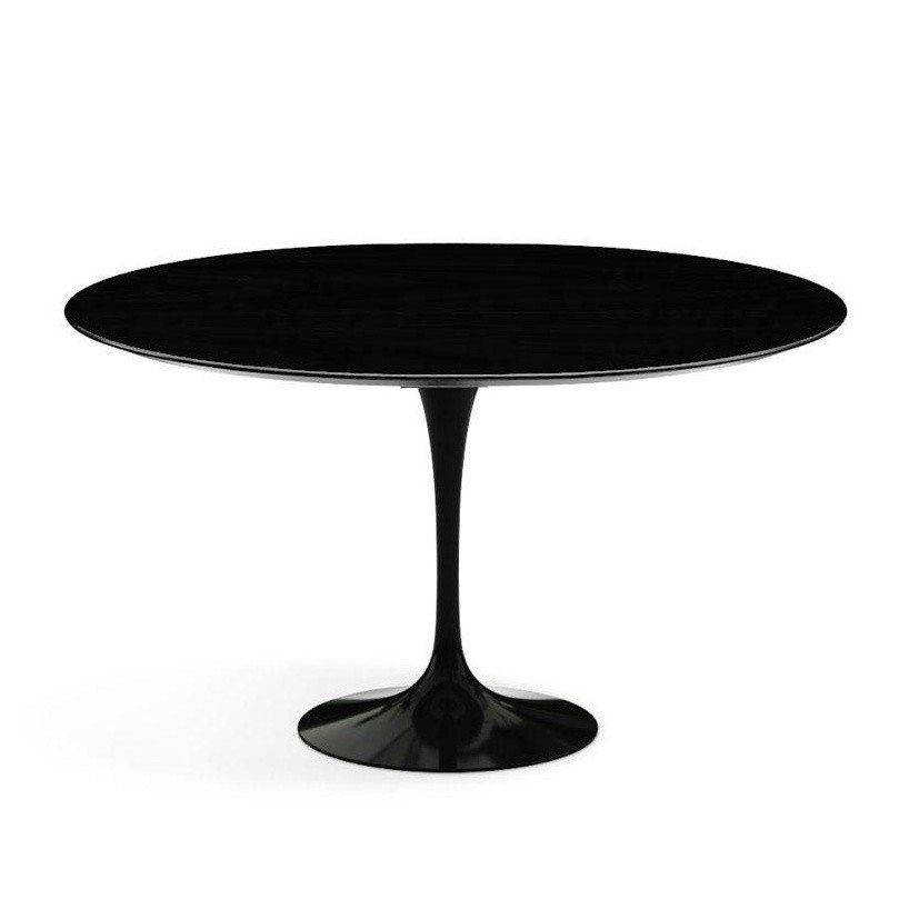 ... Knoll International   Saarinen Table Ø120cm   Black/laminate  Fenix/frame Black ...