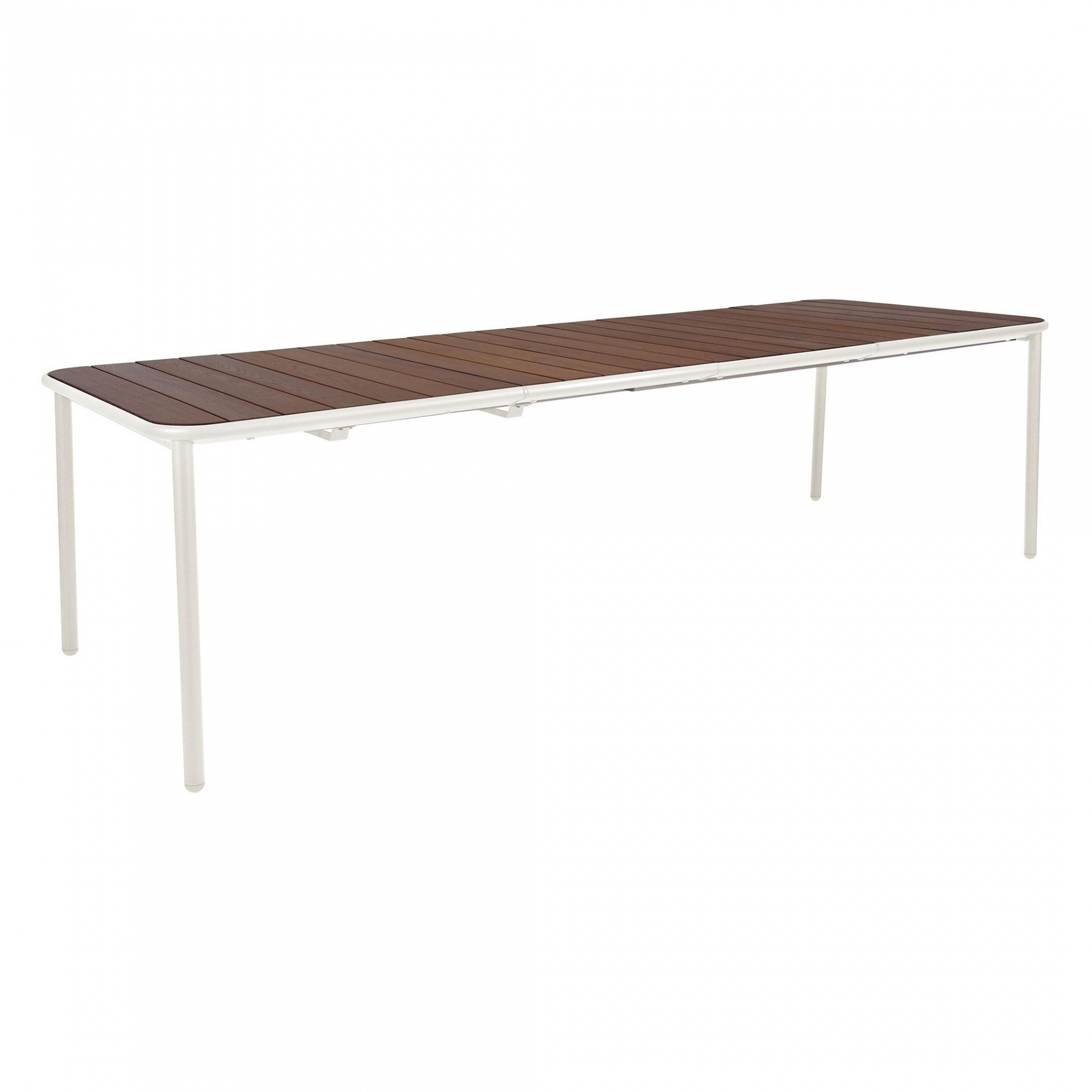 Emu Yard Ash Wood Outdoor Table Extendable White Top