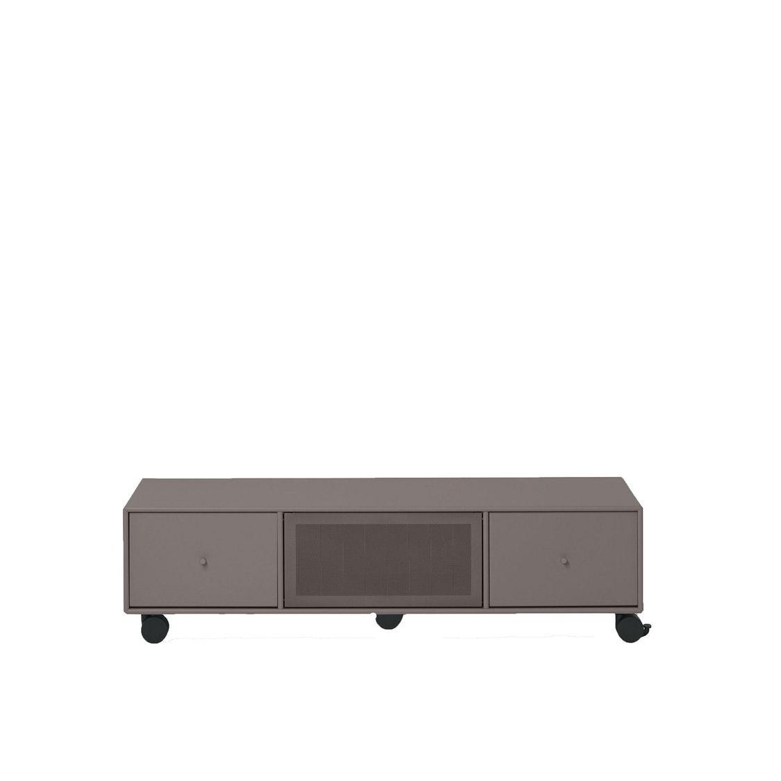 tv sound hub i sideboard mit rollen montana. Black Bedroom Furniture Sets. Home Design Ideas