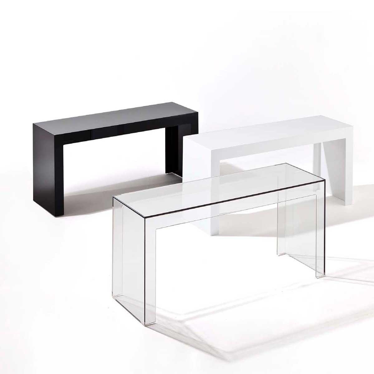 Kartell Invisible Side Table AmbienteDirect - Invisible coffee table