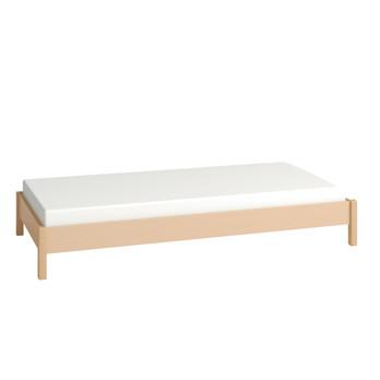 Flötotto - Flötotto Profilsystem Bett  - buche/melaminharzbeschichtet/ohne Lattenrost ohne Matratze/Liegefläche 90 x 200cm
