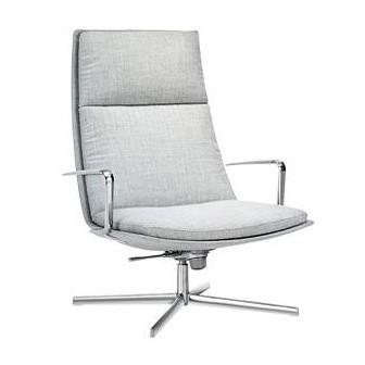 Arper - Catifa 70 Soft 3300 Lounge Sessel - grau/Stoff Remix 123/Gestell Aluminium/Rückstell- und Schwingmechanismus