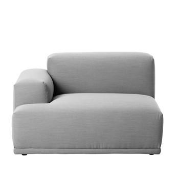 Muuto - Connect Sofa Armlehne links - hellgrau/Steelcut Trio 133/117x92cm