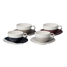 Royal Doulton - Coffee Studio Cappuccino Cup with Saucer Set of 4